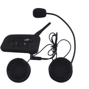 2 Sets V6-1200 Motorcycle Bluetooth Headset Intercom 1000M Hands-free Talk Interphone