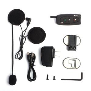 V2-500 500m Two Way Motorbike Helmet Intercom Talk Bluetooth Headset - EU Plug