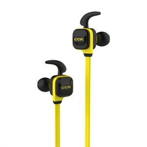CCK-KS Bluetooth 4.1 Wireless Sports Headphones Support Voice Prompt and Hands-free Calls - Yellow