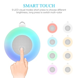 M7 2-in-1 Smart Touchable LED Wall Lamp Wireless Bluetooth Speaker with Mic, Support Aux-in/FM/TF Card