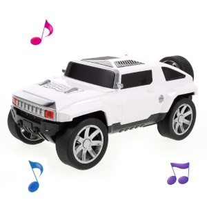 JKR Off Road Buggy  Bluetooth Speaker Mini Speaker Support Microphone/TF Card/FM/ AUX-in DS-580BT - White