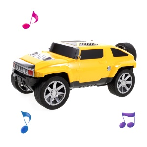 JKR Mini Speaker Car Bluetooth Speaker Support Mic/TF Card/FM/ AUX-in DS-580BT - Yellow