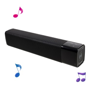 JKR KR-1000 Bar Design Bluetooth 4.1 NFC Stereo Speaker with Aux Input and Micro SD Card Slot - Black