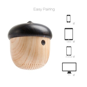 YGH-6081 Outdoor Nut Design Mini Bluetooth Stereo Speaker with Strap
