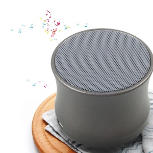 KS-01 Mini Speaker Wireless Bluetooth 3.0 Support Hands-free Phone Calls and TF Card - Grey