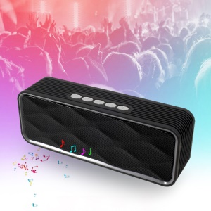 XC-28 Wireless Bluetooth Stereo Speaker Support Hands-free Mic / TF Card / FM / Aux-in - Black
