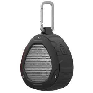 NILLKIN S1 PlayVox Rugged Shockproof and Waterproof Wireless Bluetooth Speaker Support Hands-free Mic / AUX-in - Black