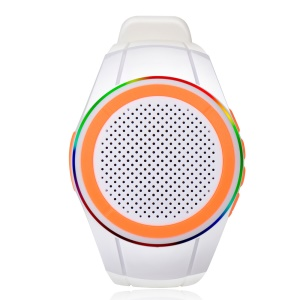 X10 Watch Type Bluetooth V2.1 HiFi Speaker Mini Wearable Sports Speaker with Mic and Self-timer - White