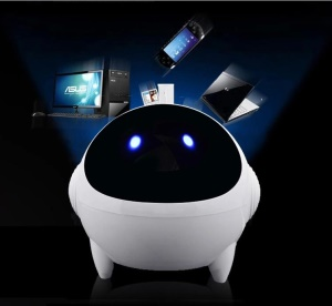 XOOPAR 3D Mini Spaceman Mega Bass Stereo Music Speaker with 3.5mm Plug - White