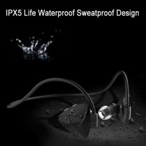 SH03D Bluetooth Hands-free Sport In-ear Earphone IPX5 Waterproof Headphone with Mic/NFC Function - Black