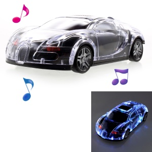 JKR DS-520BT Mini Car Model Bluetooth Speaker with Mic/LED Flash Light/USB/TF Card Slot/AUX-in/FM - Black