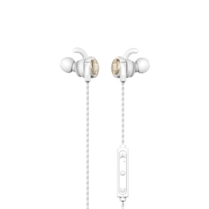 REMAX S10 Magnet Wireless Bluetooth 4.1 In-ear Sports Earphone for iPhone 7 / 7 Plus - Gold Color