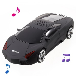 JKR DS-700BT Car Style Bluetooth Speaker Music Player with Mic Support TF Card/FM/3.5mm Aux-in - Black