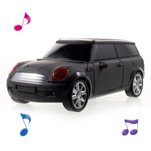 JKR DS-A9BT Mini Car Model Wireless Bluetooth Speaker with Mic/USB/TF Card Slot/AUX-in/FM - Black