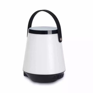668 Color Changing Smart LED Light Portable Outdoor Wireless Bluetooth Speaker Support USB / TF Card / Aux-in - Black