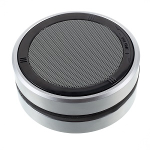 X1 Super Bass Portable Mini Bluetooth Speakers with Microphone Support TF Card/AUX-in - Silver Color