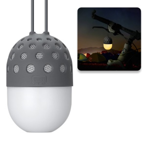 ZL-106 Firefly LED Color Changing Mini Portable Outdoor Bluetooth Speaker for Samsung S8 etc. - Grey