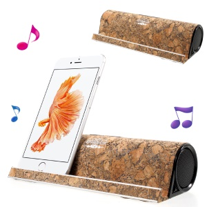 COOYA Wood Bluetooth Speaker Wireless Stereo Speaker with Phone and Tablet Stand for iPhone 7 etc. - Style A