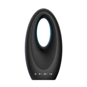 Outdoor Portable Bluetooth V4.1 Speaker with TF Card Slot/AUX-in/FM - Black