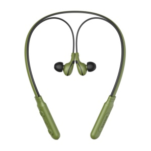 BASEUS Encok E16 Neckband Wireless Bluetooth In-ear Sports Earphone with Mic and Magnet Attraction - Green + Black