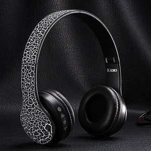 KIDA KD-B07 Wireless Stereo Bluetooth Headphone with Mic/TF Card Slot/Audio Input - Black