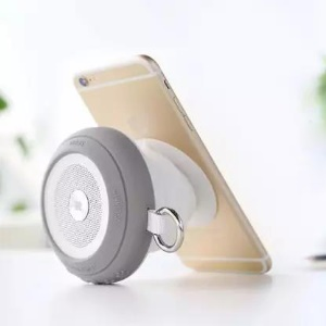 ROCKSPACE Pocket Party Suction Cup Bluetooth Speaker with Light Show - Grey
