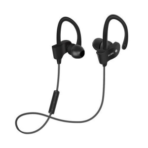 Sports Bluetooth Headset Earhook In-ear Stereo Headphone with Mic (BTH-H5) - Black