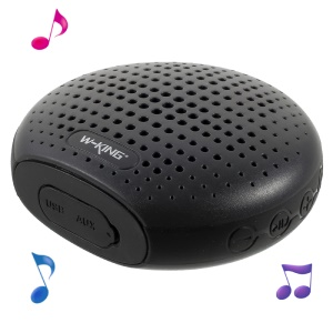 W-KING S4 Portable IPX6 Waterproof Mini Outdoor Bluetooth Speaker Support TF Card / FM Radio / 3.5m Aux-in - Black