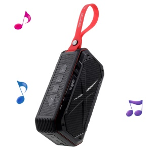 W-KING S18 Portable IPX7 Waterproof Outdoor Speaker Mega Bass Wireless Bluetooth Speaker - Red