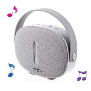 W-KING T6 Portable 5W Wireless Bluetooth Speaker Support TF Card/FM Radio/3.5m Aux-in - Silver