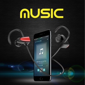 FOZENTO Wireless Bluetooth Sports Stereo Earbud Headset Earphone with Microphone - Red