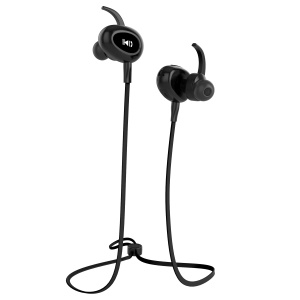 FOZENTO FT6 Noise Isolating Sports IPX5 Sweat-proof Headset with Mic for iPhone 7, Samsung S8 etc. - Black
