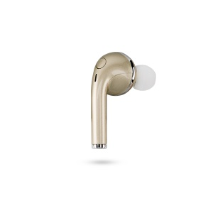 Single Wireless Bluetooth Earphone Stereo In-ear Headphone with Mic for Samsung S8 etc. - Gold Color