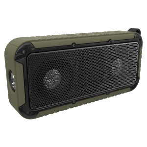 NEW BEE NB-S1 Wireless Bluetooth Speaker IP67 Waterproof Dust-proof Bicycle Speaker with Aux-in - Army Green