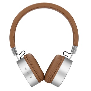 USAMS US-LH001 Over-Ear Wireless Bluetooth Headphone with Mic - Brown