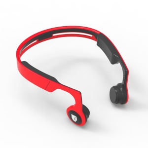 ES268 Wireless Sports Bluetooth Stereo Bone Conduction Headphone - Red and Black
