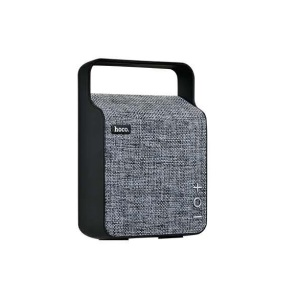 HOCO BS6 NuoBu Desktop Wireless Speaker Portable Cloth Texture Bluetooth Music Speaker - Grey