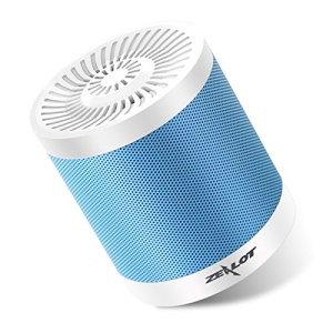 ZEALOT S5 Music Mini Bluetooth Speaker Support Aux-in / TF Card / U Disk with Carabiner - Silver Color + Blue