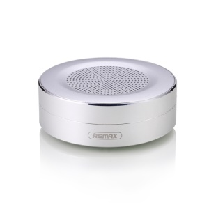 REMAX M13 Mini Portable Wireless Bluetooth Speakers with Microphone Support TF Card/AUX-in - Silver Color