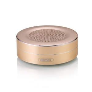 REMAX M13 Mini Wireless Bluetooth Speakers with Microphone Support TF Card/AUX-in - Gold Color