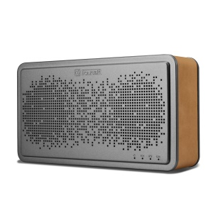 ICARER BS-221 Genuine Leather Coated Bluetooth Wireless Speaker Support 3.5mm Aux-in - Light Brown