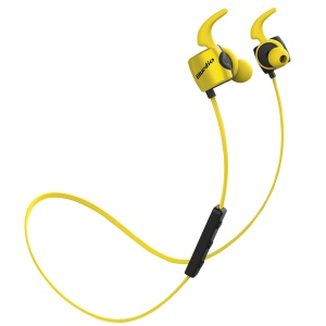 BLUEDIO TE Sports Remote Control Wireless Bluetooth 4.1 In-ear Earpieces with Mic - Yellow