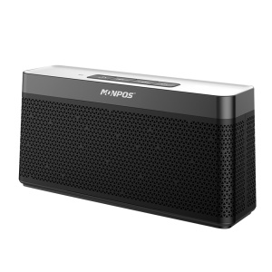 MONPOS C6 Mesh Design Bluetooth 4.2 Hifi Speaker Support TF Card / Line in - Black