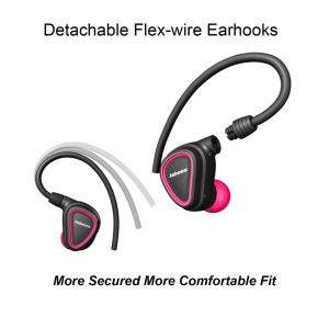 JABEES TRUE Wireless Fitness Earbuds Sports Bluetooth 4.1 In-ear Sweatproof Headphone(CE/RoHS/CCC/BQB) - Rose