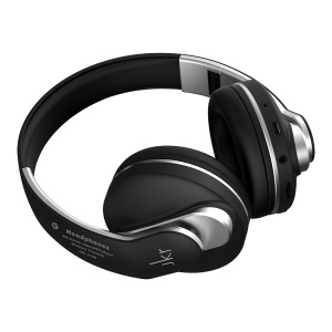 JKR-218B Foldable Bluetooth 4.0 Over-ear Headset Supporting TF Card and FM Radio(CE/FCC) - Black