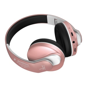 JKR-218B Ultra Bass Wireless Bluetooth 4.0 Foldable Headset Headphone with Microphone Supporting TF Card and FM Radio(CE/FCC) - Rose Gold Color