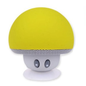 Mini Pocket Size Mushroom Shape Bluetooth Speaker with Suction Holder and Mic - Green