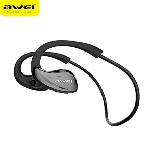 AWEI A880BL Wireless Sports Bluetooth 4.1 In-ear Earphone with Mic Support NFC Fast Pairing - Black