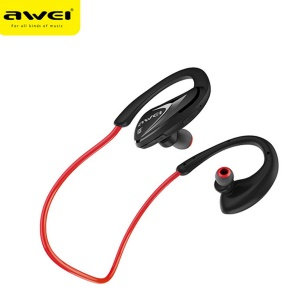 AWEI A880BL In-ear APX-T Wireless Bluetooth Sports Headphone with Mic Support NFC Fast Pairing - Red