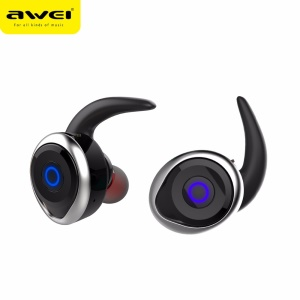 AWEI T1 Mini IPX4 Waterproof True Wireless Stereo Bluetooth Headphone for iPhone 7, Samsung Note 8 - Silver Color